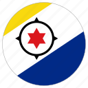 bonaire, circle, country, flag, world icon