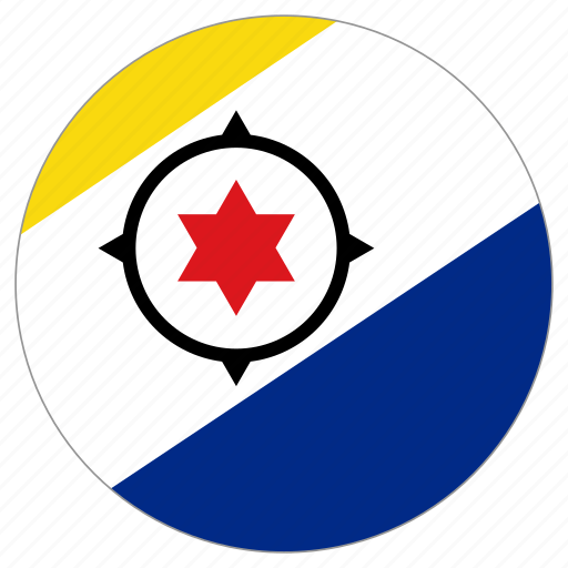 bonaire, circle, country, flag, world icon