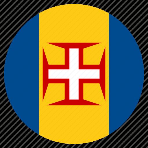 circle, country, flag, madeira, world icon