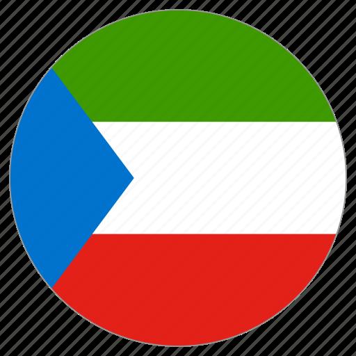 circle, country, equatorial guinea, flag, world icon
