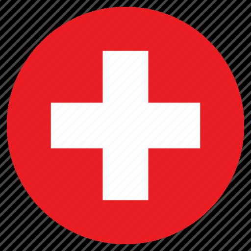 "Резултат слика за switzerland flag circle"""