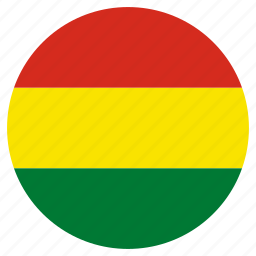 bolivia, circle, country, flag, world icon