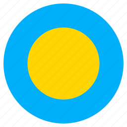 circle, country, flag, palau, world icon