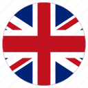 circle, country, flag, united kingdom, world icon
