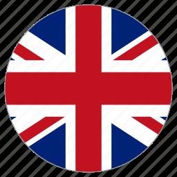 circle, country, flag, united kingdom, world icon