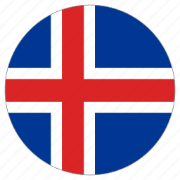 circle, country, flag, iceland, world icon
