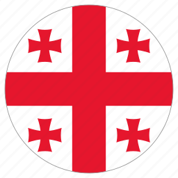 circle, country, flag, georgia, world icon