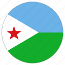 circle, country, djibouti, flag, world icon