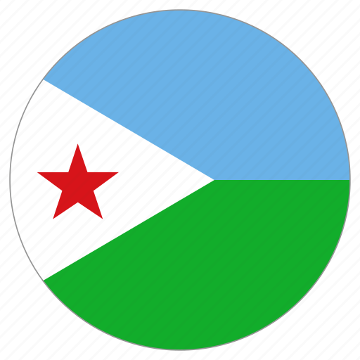 circle, country, djibouti, flag, world icon