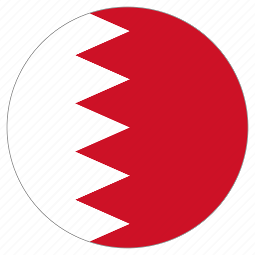 bahrain, circle, country, flag, world icon