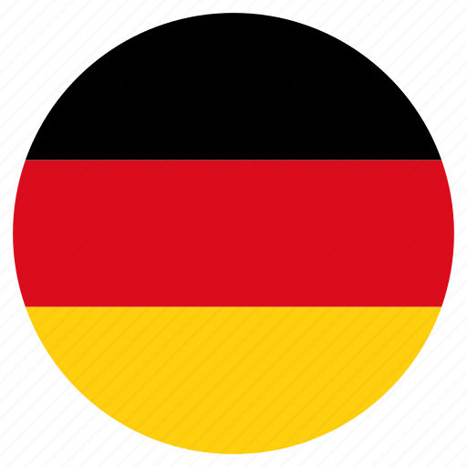 circular, country, flag, germany, world icon