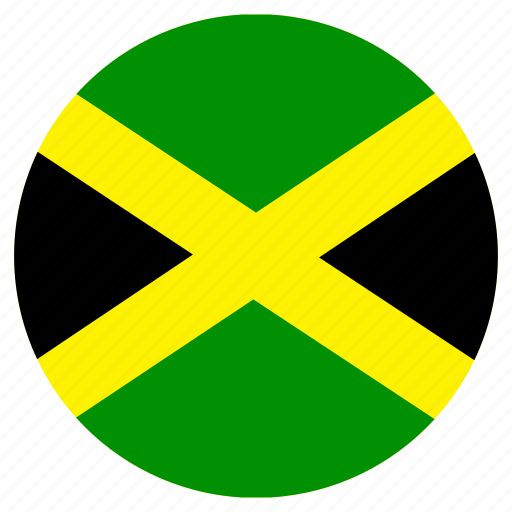 circular, country, flag, jamaica, world icon