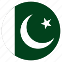 circular, country, flag, pakistan, world icon