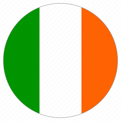 circular, country, flag, ireland, world icon