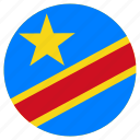 circular, country, democratic republic of the congo, flag, world icon
