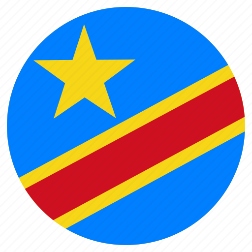 circular, country, democratic republic of the congo, flag, world icon