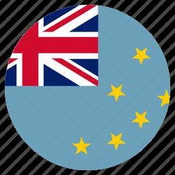 circular, country, flag, tuvalu, world icon
