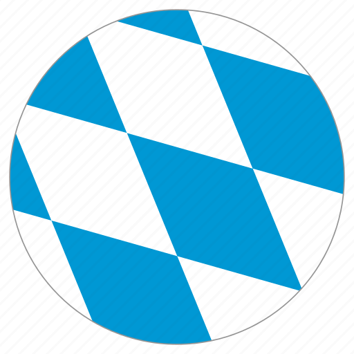 bavaria, circular, country, flag, world icon