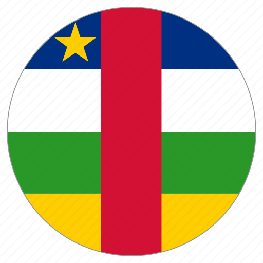 central african republic, circular, country, flag, world icon