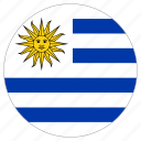 circular, flag, uruguay, world icon