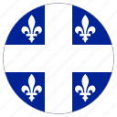 circular, flag, quebec icon