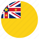 circular, flag, niue, world icon