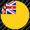 circular, flag, niue, world icon