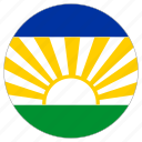 circular, flag, lebowa, world icon