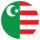 circular, flag, mwali sultanate, world icon