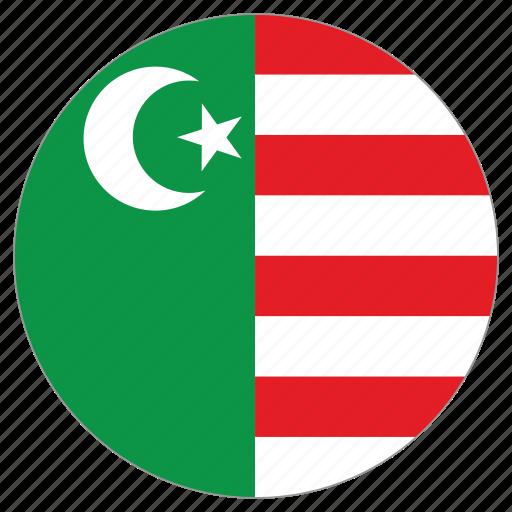 circular, flag, mwali sultanate, world icon