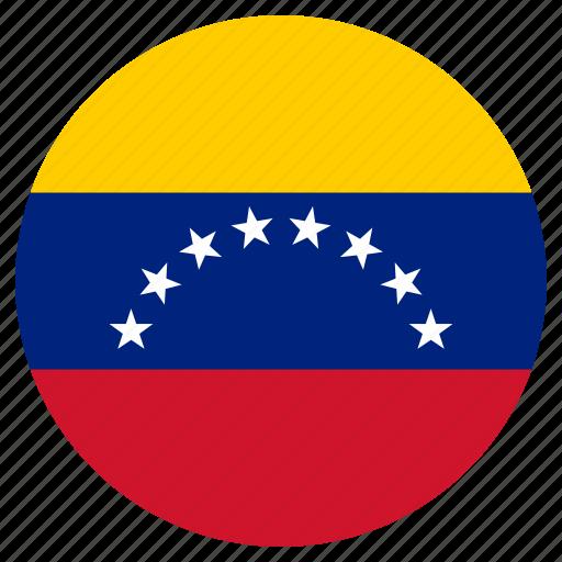 circular, flag, venezuela, world icon