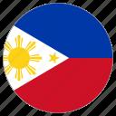 circular, flag, philippines icon