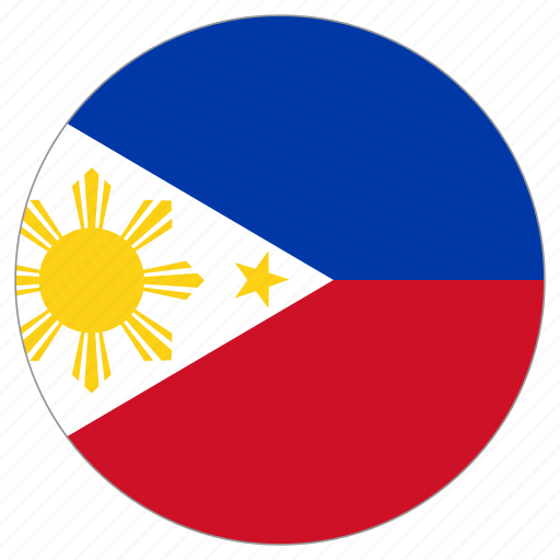 circular, flag, philippines, world icon