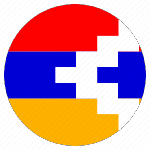 circular, flag, nagorno-karabakh republic, world icon
