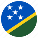 circular, flag, solomon islands, world icon