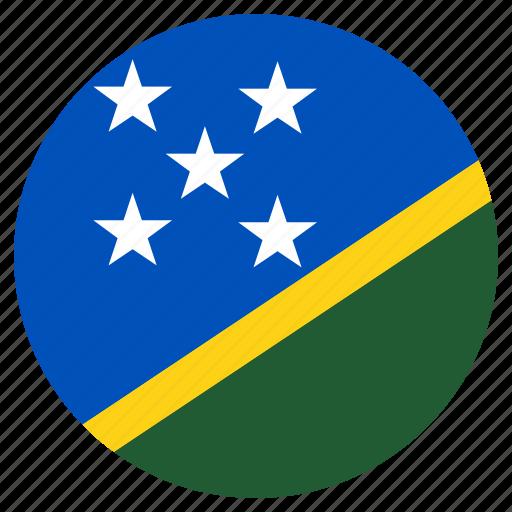 circular, flag, solomon islands, world icon