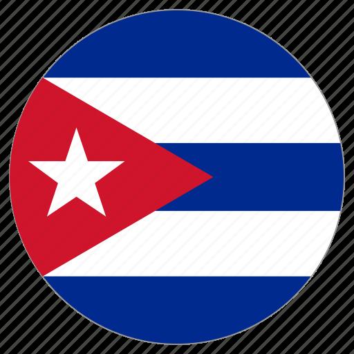 circular, cuba, flag, world icon