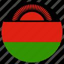 circular, flag, malawi icon