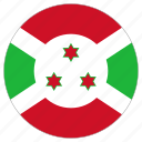 burundi, circular, flag, world icon