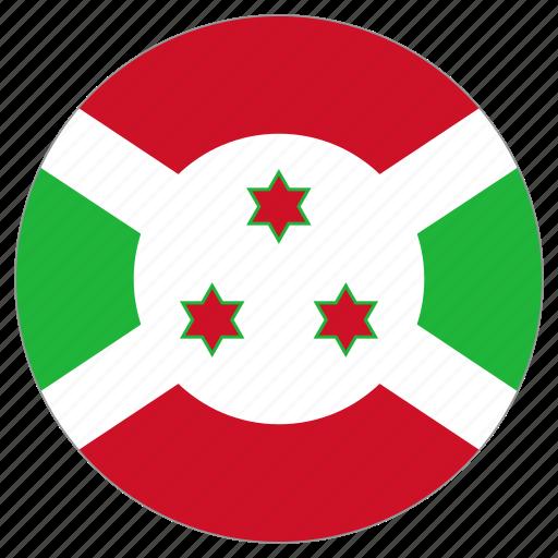 burundi, circular, flag, world icon