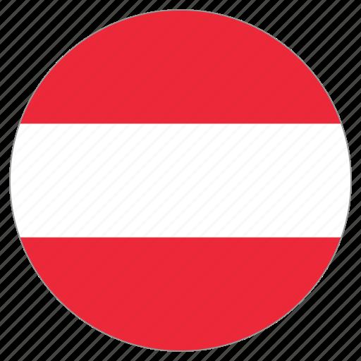 austria, circular, flag, world icon