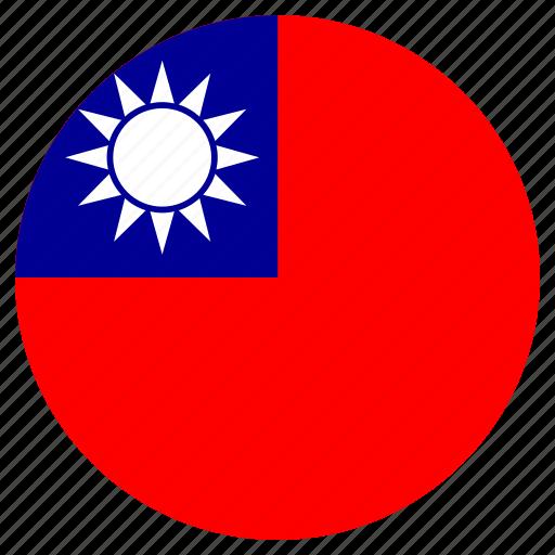 circular, flag, taiwan, world icon