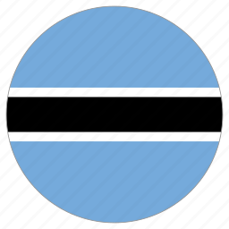 botswana, circular, flag, world icon