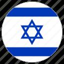 circular, flag, israel
