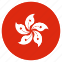 circular, flag, hong kong, world icon