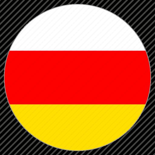 circular, flag, south ossetia, world icon