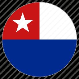 circular, flag, naval jack of cuba, world icon
