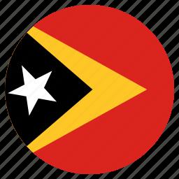 circular, east timor, flag, world icon