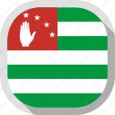 abkhazia, flag, rounded, square, world icon