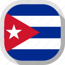 cuba, flag, rounded, square, world icon